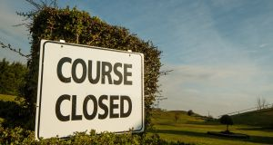 The enforced coronavirus closure will hit golf clubs around Ireland hard. Photograph: James Crombie/Inpho