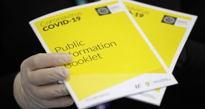 A public information booklet being launched at Government Buildings on Wednesday. Photograph: Nick Bradshaw/The Irish Times