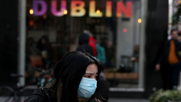 A woman in Dublin's city centre. Photograph: Brian Lawless/PA Wire