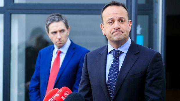 Irish backstop - Minister for Health Simon Harris and Taoiseach Leo Varadkar. File photo: Collins