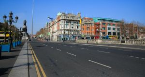 A quiet O'Connell Bridge in Dublin this week. Photograph: Gareth Chaney/Collins