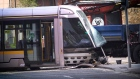 Luas derailed following collision with truck in Dublin