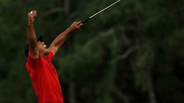 The remarkable second life of Tiger Woods was capped by his victory at the US Masters last April. Photograph: Mike Ehrmann/Getty Images