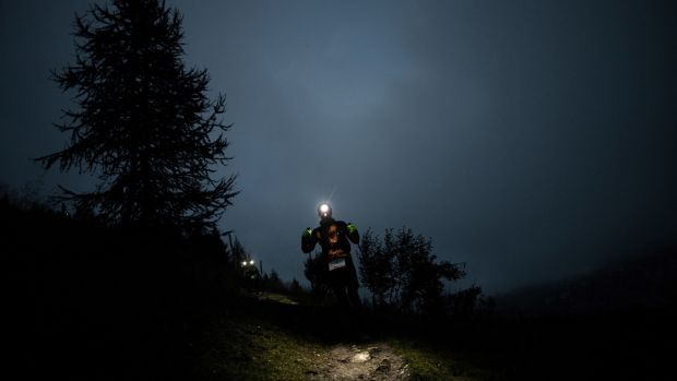 Ultra runners takes part in the 2018 Ultra-Trail du Mont-Blanc. Photograph: Jeff Pachoud/AFP via Getty Images