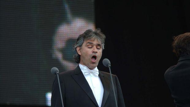 Listen to Andrea Bocelli live in concert. File photograph: Brian Bateson/Provision