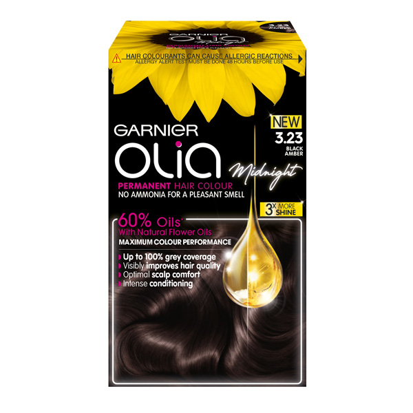 Garnier Olia Midnight in 3.23 Black Amber, €10 at pharmacies nationwide