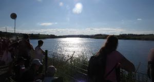 Crowds watch the Irish Rowing Championships last year.