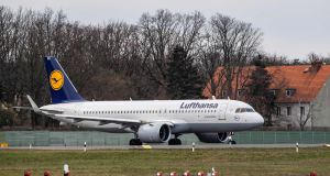 "Lufthansa said  that members of its executive board had waived 20 per cent of their compensation ""in solidarity with all employee groups"". Photograph: AFP"