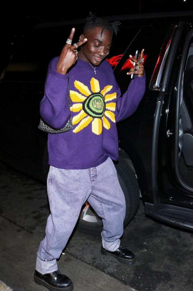 Rickey Thompson seen in Los Angeles, California wearing Dr Martens. Photograph: OGUT/Star Max/GC Images/Getty Images
