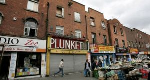 Footfall declined by 62 per cent on Dublin's Moore Street. File photograph: Dara Mac Dónaill