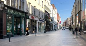The powers that have been introduced in Ireland are extreme by any measure. Picture shows a deserted Grafton Street area following new  restrictions on retail . Bryan O Brien / The Irish Times