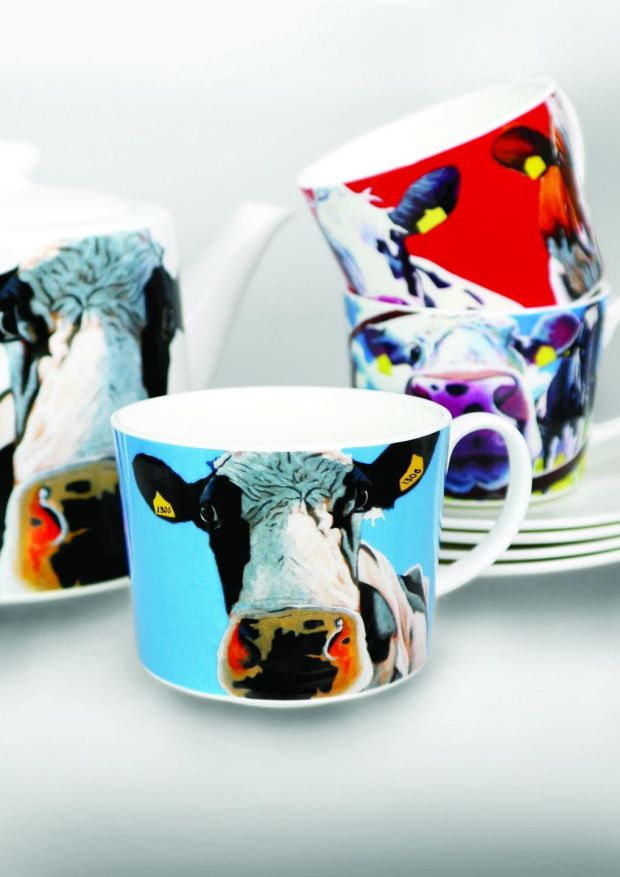 Eoin O'Connor's recent collaboration with Tipperary Crystal of Curious Cows