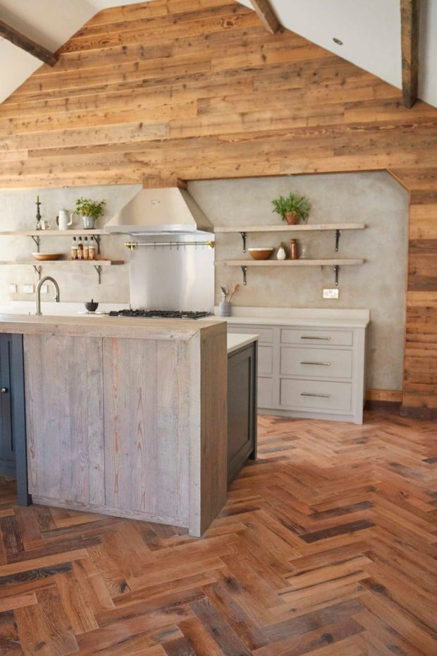 York-based Main Company uses a lot of reclaimed wood in its projects