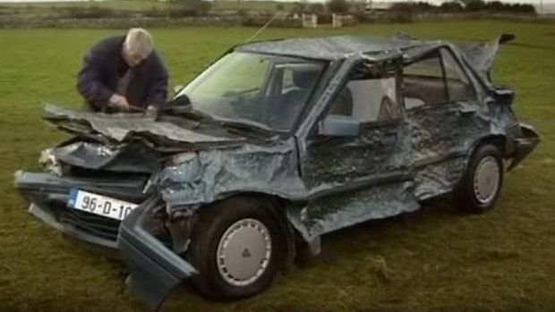 Raffle car: Edd China's first TV job was wrecking the Rover in Father Ted