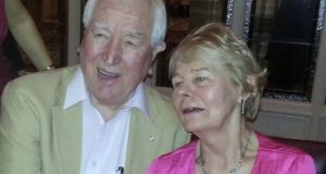 The late John McGroddy, who died from coronavirus in a nursing home in Swords, north Dublin, and his wife Nell.