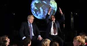 British prime minister Boris Johnson and Sir David Attenborough at February's launch of the next COP26 UN Climate Summit at the Science Museum, London.  Photograph: Chris J Ratcliffe/PA Wire