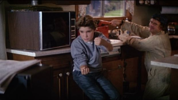 Nick playing Mouth's dad in The Goonies, on which he was also cinematographer