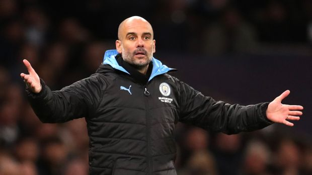 Pep Guardiola's failure to replace Vincent Kompany in the heart of the Man City defence, added to an injury to Aymeric Laporte has cost the side dearly. Photograph: Catherine Ivill/Getty Images