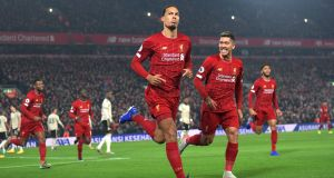 Virgil van Dijk has once again been imperious at the heart of the Liverpool defence. Photograph:  Michael Regan/Getty Images
