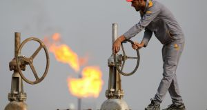 Oil prices jumped after US president Donald Trump said he expected Saudi Arabia and Russia to reach a deal soon to end their price war helped improve the general tone in markets. Photograph: AFP via Getty
