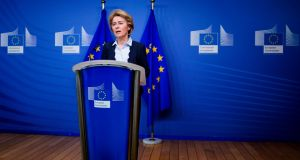 European Commission President Ursula von der Leyen has announced that the next EU Multiannual Financial Framework will be re-focused on fighting the economic consequences of the corona crisis (Photo by KENZO TRIBOUILLARD/AFP via Getty Images)