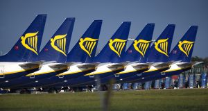 Ryanair says it has already implemented several measures to cut operating costs and improve liquidity and cash flows. Photograph: Crispin Rodwell