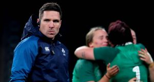 Ireland Women's rugby coach Adam Griggs. Photograph: Ryan Byrne/Inpho