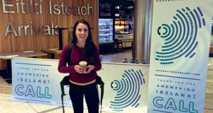 Dr Marianne Hennigan at Dublin Airport on Saturday. Photograph: Ireland's Call