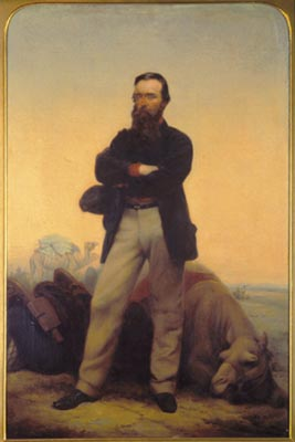 An 1862 portrait of Robert O'Hara Burke by William Strutt.