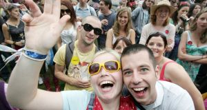 Revellers enjoying the music at the Electric Picnic in Stradbally last August. Photograph: Alan Betson