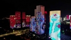 Wuhan ends lockdown with light show honouring key workers