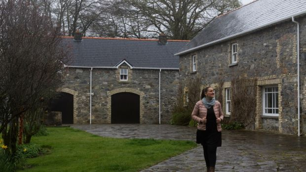 Nathalie Moyano González outside her new home in Coolcronan, Co Mayo.