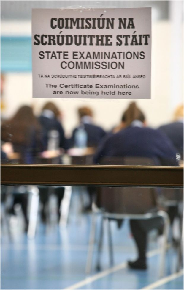 Another option is to proceed with exams in June while observing physical distancing. File photograph: Dara Mac Dónaill/The Irish Times