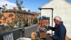 Dublin artist takes to his roof to paint during coronavirus lockdown