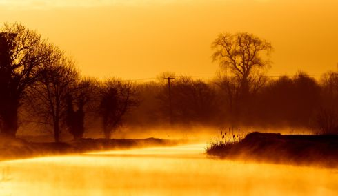 RISE AND SHINE: Sunrise on the Grand Canal between Tullamore and Ballycommon, Co Offaly. Photograph: James Crombie/Inpho
