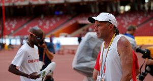 The new head of UK Athletics has said there are there are plans to hand over a 2015 internal report into Alberto Salazar's relationship with Mo Farah. Photograph: Adrian Dennis/Getty/AFP