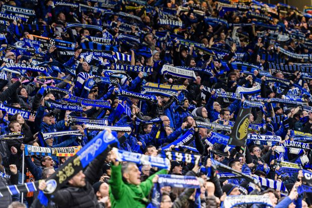 Coronavirus clusters: Atalanta supporters at San Siro, in Milan, on February 19th. Photograph: Marcio Machado/Eurasia Sport/Getty
