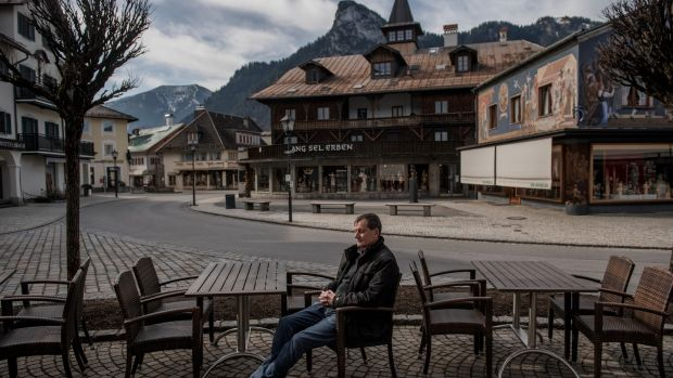 Hotel owner Anton Preisinger, who was to play Pontius Pilate, in Oberammergau, Germany. Photograph: Laetitia Vancon/The New York Times