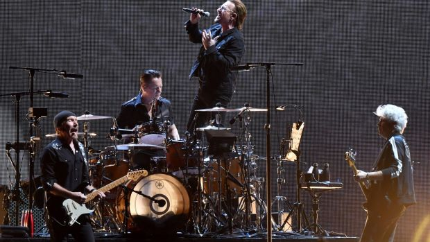 U2: €10 million to support health care workers. Photograph: Sam Wundke/EPA