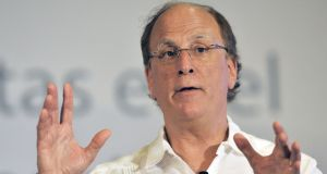 BlackRock increased the pay of Larry Fink, its chief executive, by 5 per cent to $25.3 million (€23 million) last year