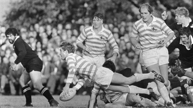 John Robbie in action for Cambridge against New Zealand in 1978. Photograph: Billy Stickland/Inpho