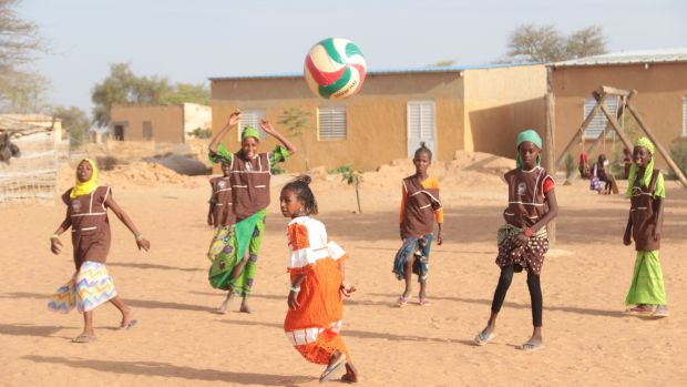 Among the many educational initiatives helped by the Great Green Wall in Senegal is the small school in Mbar Toubab. Photograph: Boubacar Badji