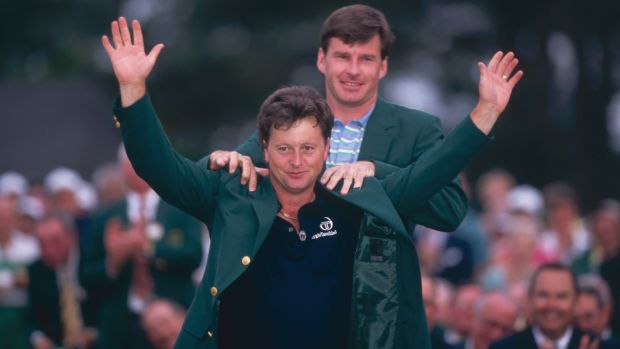 Ian Woosnam after winning the 1991 US Masters. Photograph: Getty