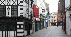 The deserted Great George's Street, Waterford. Photograph Nick Bradshaw
