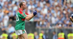 David Brady celebrates Mayo's win over Dublin in the 2006 All-Ireland quarter-finals. Photograph: Cathal Noonan/Inpho