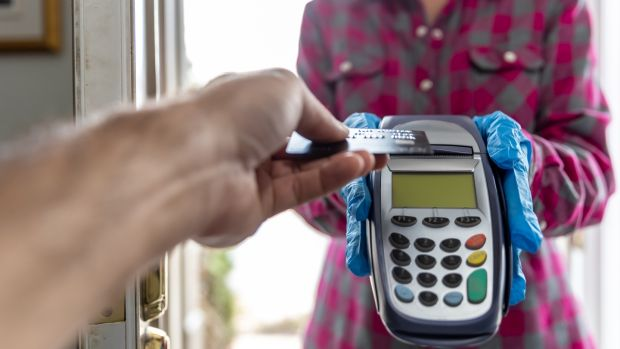 Contactless payment. Photograph: iStock