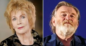 Dear Ireland: Edna O'Brien and Brendan Gleeson have been announced as among the artists taking part in the Abbey Theatre project. Photographs: Alan Betson and Rich Polk/Getty