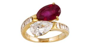 Lot 180 Bvlgari diamond and ruby ring, €50,000-€55,000, O'Reillys