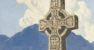 Celtic Cross in a West of Ireland Landscape by Paul Henry sold for €105,000 through Morgan O'Driscoll