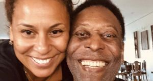 Kely Nascimento-DeLuca with her father Pelé. Photograph: Courtesy of Kely Nascimento-DeLuca